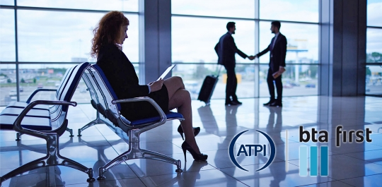 Businesstravellers at Airport atpi bta